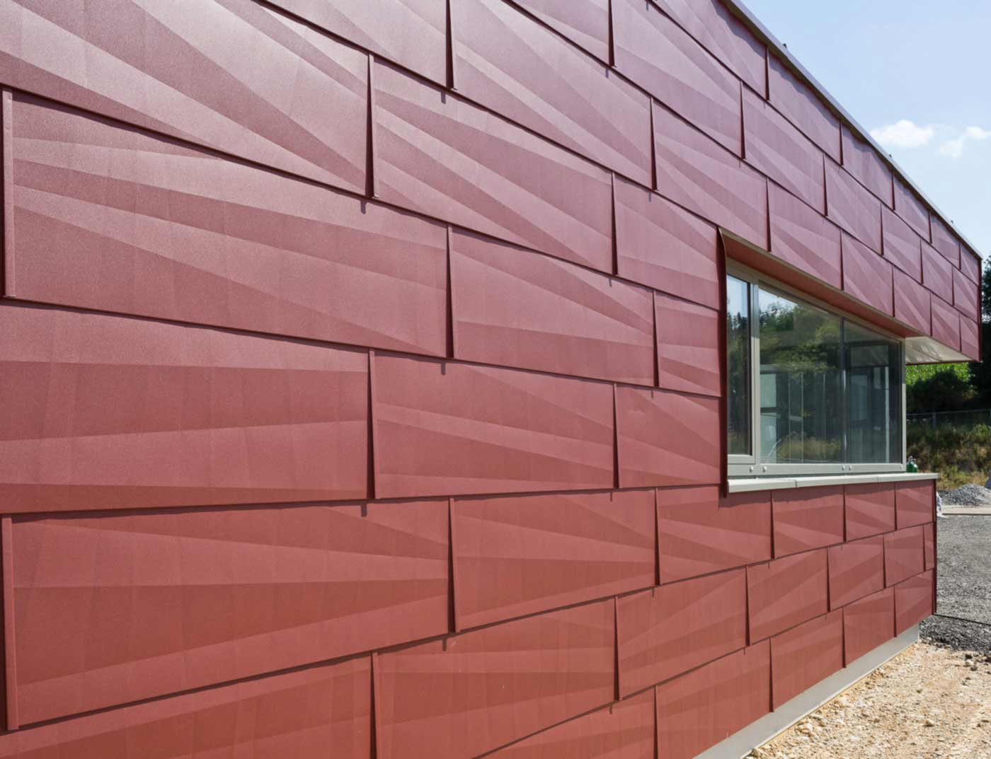 Reference buildings PREFA Façade systems FX.12 façade panel 05 P.10 oxide red